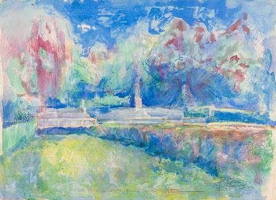 Franc garden watercolor 22x30 2,000