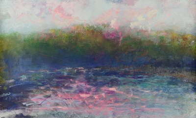 When in Maine I used to drive up into Acadia Park and park my 96 Ford station wagon onto the rocks and paint the beautiful sunset of the park late into the evening. I think Pat the work I did and then
