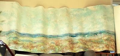 20 x4' panorama water based pastel