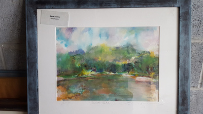 "watercolor on hike location heart lake Adirondacks 16""x20"" $900."