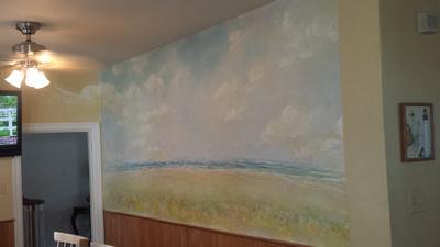 kitchen mural ventnor Bagnel residence