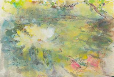 "original watercolor painting 22""30' blossoming dream 2  $1,200"