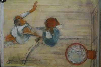 university of Kentucky collection of over sized original sports art designed for  the rehab facility