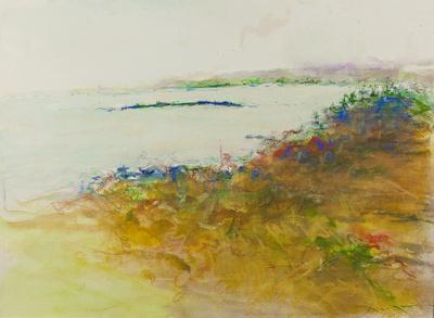 """acadia park watercolor ,pastel22""""30"""""""