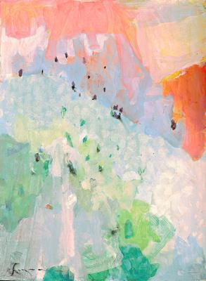 """Colorado winter Brekenridge original watercolor 22x30"""" 1,200"""