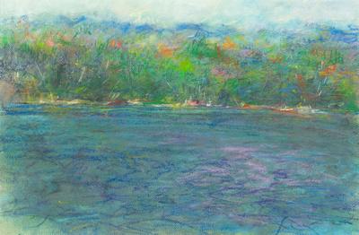 "Adirondack lake ny original painting $1,200 18x24"""