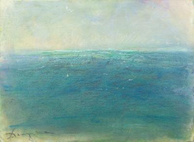 ocean blues Maine mt desert original pastel watercolor $2,000   painting watercolor