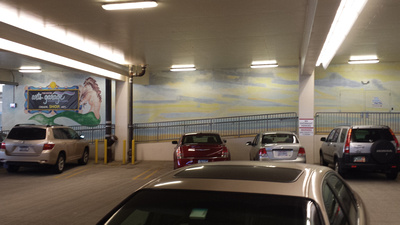 ac wave   art garage mural Steve kuzma