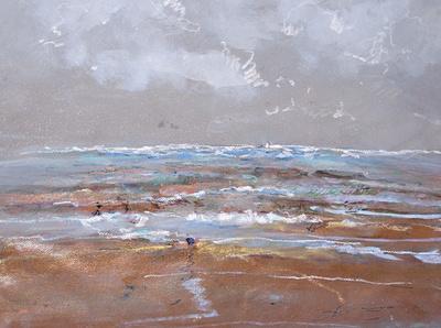 "NJ shore watercolors original watercolor painting 22""30'"