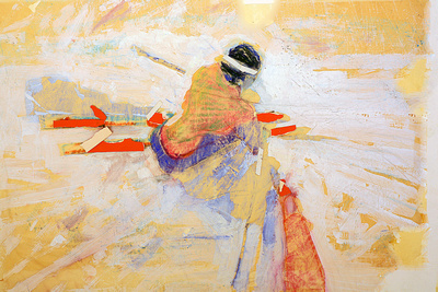 skier at slalom gate,slalom skier,olympics