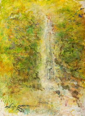 """Res Waterfall original watercolor 22x30"""" 1,200"""
