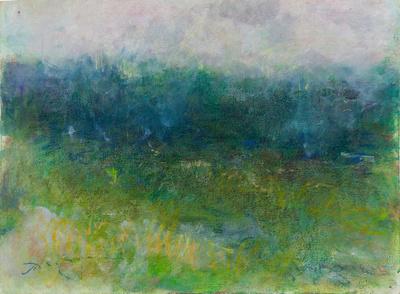 "orinal pastel watercolor mountain meadow 22""x30"" $1,800"