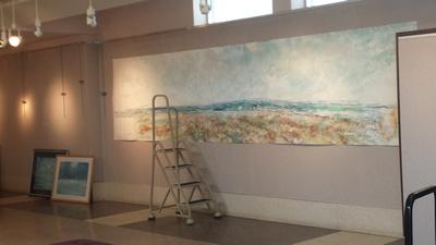 20 ft panorama margate nj original pastel watercolor $6,000 shown at garden pier atlantic city