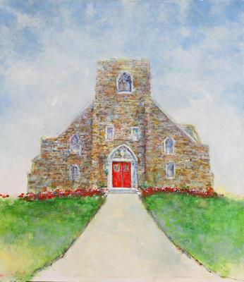 "Epiphany Church ventnor oil 45""x60"" 3,500"
