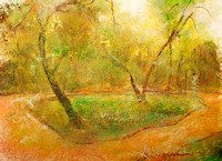 "Spring Park original watercolor painting 22""30'"