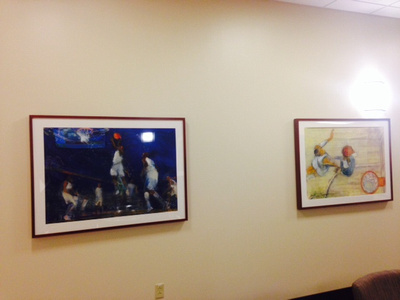 photo 2 university of Kentucky hospital university of Kentucky collection of over sized original sports art designed for  the rehab facility