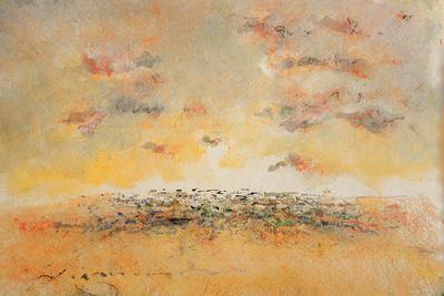 evening sunset original watercolor $1,000