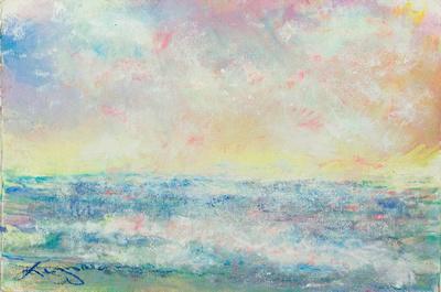 sunset watercolororiginal pastel watercolor $1,000