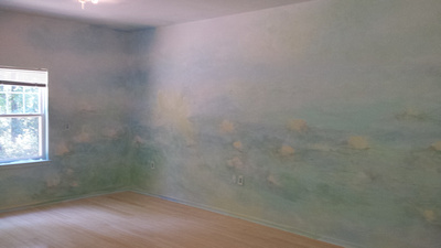 Enlightened Solutionsmural and building designyoga roomthis room is meant to bring expanse and warmth with its 360 bowl like approach to the mural .This  is a yoga room for recovering addicts so calmn