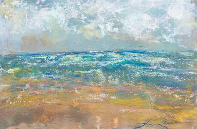 wind and sea nj ventnororiginal pastel watercolor $1,000