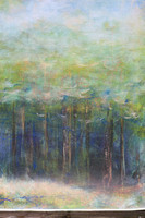 "trees original watercolor painting 22""30'"