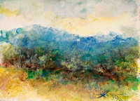 original watercolor Shenandoah Virginia painted on location Shenandoah ,valley skyline drive