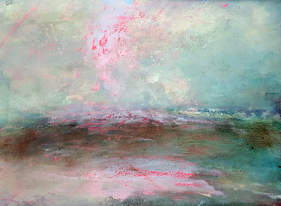 margate seascape original pastel watercolor