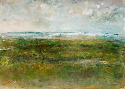 "summer wetlandsoriginal pastel watercolor $2,000   available mixed media 34""x28"" $900."