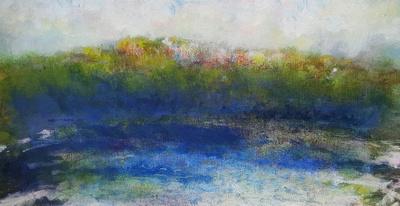 """blue mountain lake Adirondack museum September Oct 2016 30""""'x 40''"""