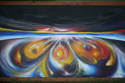 space odyssey expanding universe acrylic 4'x6'