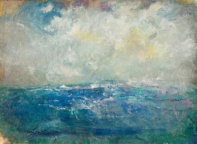 Art of Kuzma: Seascapes &emdash; ocean blues painting watercolor