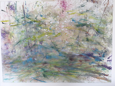 "forest storm 22x30"" watercolor"