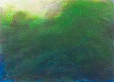 """original pastel 24""""x28"""" 1,100 tropic"""
