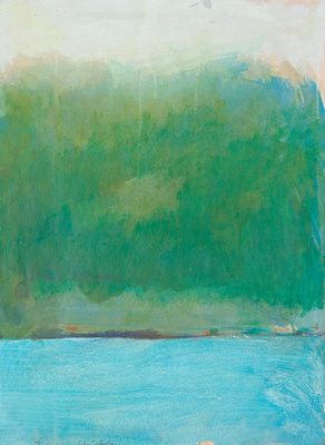 interlaken tryptich original pastel watercolor $2,000