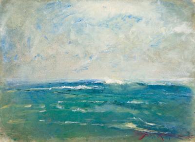 seascape  watercolor painting oceanoriginal pastel watercolor $1,000