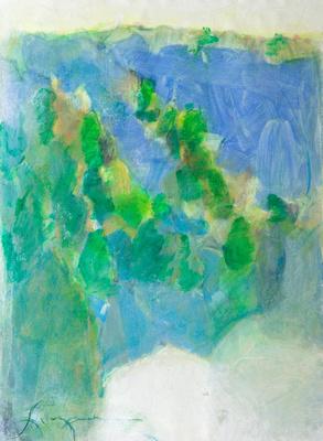 "Winter Light original watercolor painting 22""30'"