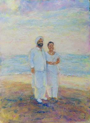 """rita,raji original watercolor painting 22""""30'"""