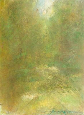"Trail Sun Adirondack Mountains original watercolor 22x30"" 1,200"