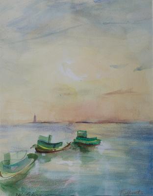"""original watercolor painting 22""""18' 900."""