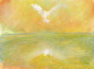 dove of peaceoriginal pastel watercolor $2,000