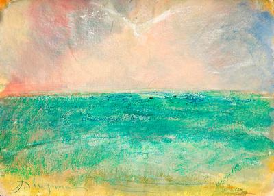 dove over seaoriginal pastel watercolor $1,100