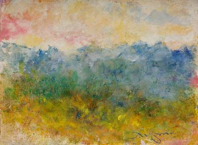 "original watercolor Shenandoah Virginia painted on location Shenandoah $1,200 available mixed media 34""x28"" $900."