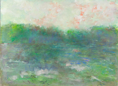 """original pastel watercolor 22""""x30"""" $1,800 mountain sunset available mixed media 34""""x28"""" $900."""
