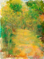 "original pastel watercolor 22""30"" path to you"