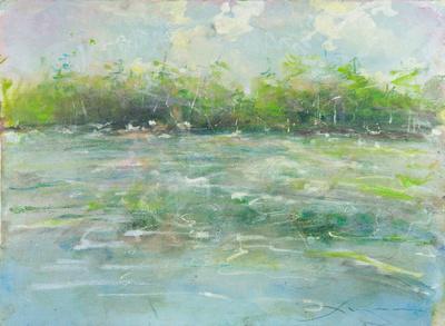 """Pine Lake original watercolor 22x30"""" 1,800"""