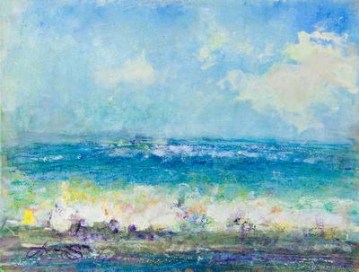 "Bathers original pastel watercolor $2,000       mixed media 34""x28"" $900."