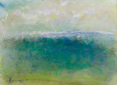 """Bar Harbor Maine original watercolor 30""""x22""""pastel 3,500"""