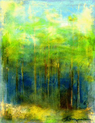 forest edge  available mixed media$900.