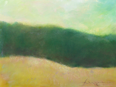 """Summer Forest Edge original watercolor painting 22""""30' catskill mountains byrdcliffe woodstock"""