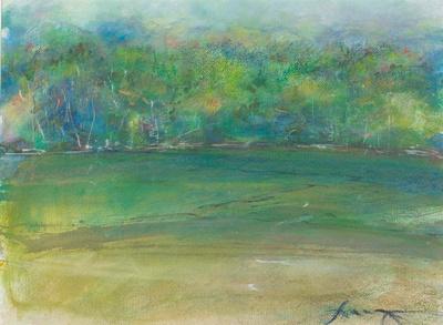 original watercolor 1,100 Adirondack lake